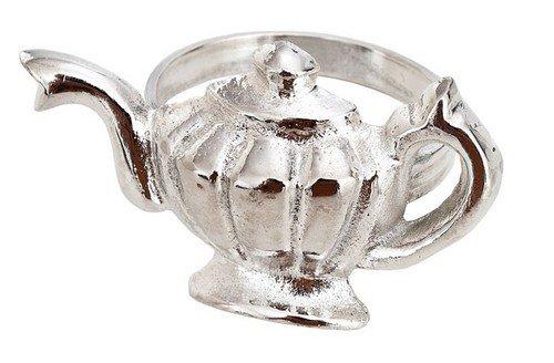 Silver Teapot Napkin Ring