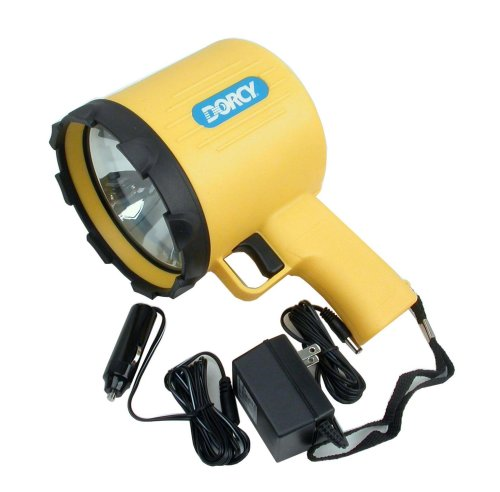 Dorcy 41-1097 1 Million Candle Power Rechargeable Pistol Grip Spotlight with Charging Adaptors