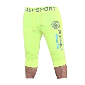 Herren Schorts Sweat-shorts Unisex (L, Gelb)