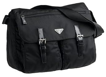 Amazon.com: Prada Nylon Messenger Bag, Nero: Clothing