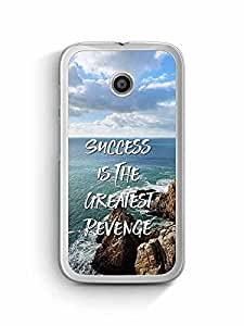 YuBingo Success is the Greatest Revenge Designer Mobile Case Back Cover for Motorola G4