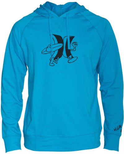 Hurley - Mens Rec And Parks Fleece Hoodie, Size: X-Large, Color: Htr Cyan