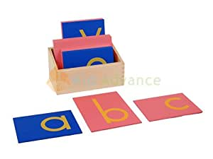 Kid Advance Co. Montessori Lower Case Sandpaper Letters w/ Box