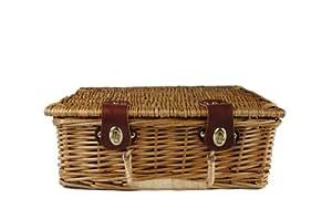 Wald Imports 13-Inch Wicker Picnic Basket