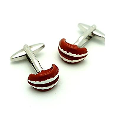 Dentures Cufflinks Dentist Grandpa False Teeth Tooth + Box & Cleaner