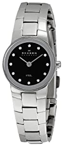 Skagen Women's SK430XSSXBD Steel Black Dial Watch