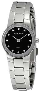 Skagen Women's SK430XSSXBD Steel Black Dial Watch