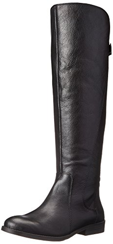 Lucky Women's Zepia Motorcycle Boot, Black, 9 M US