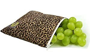 Itzy Ritzy SWB7011 Reusable Snack Bag (Leopard)