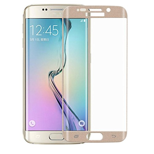 Bestnow Samsung Galaxy S6 Edge Plus Screen Protector Premium HD Clear Curved Film Ultra High Definition Invisible and 3D PET Film Full Coverage Protector (Gold)