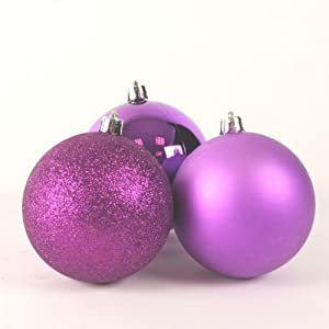 99x christbaumkugeln lila violett glanz matt weihnachtskugeln kunststoff 3 7cm k che - Christbaumkugeln lila ...