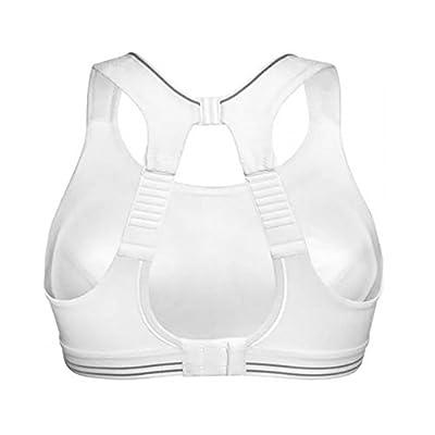 Professional Women's Sports Bra Shock Absorber Running Bra(38C, White)