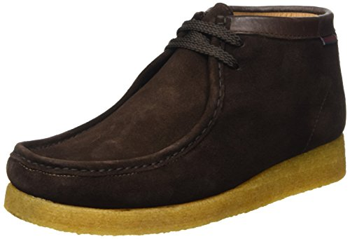 Sebago Koala Hi Scarpe Brogue Stringate, Unisex Adulto, Marrone (Suede Dark Brown), 43