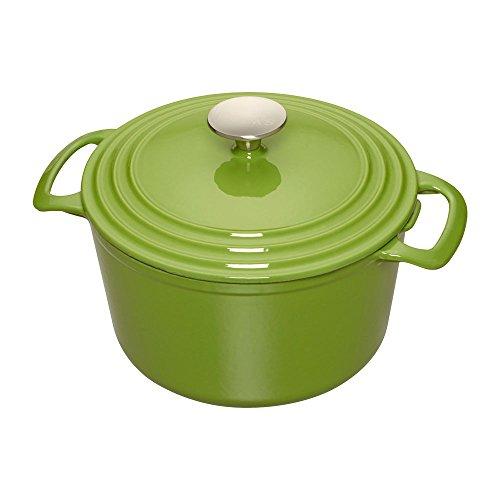 Cooks Enameled Cast Iron 5.5 quart Dutch Oven, Medium, Green (Cast Iron Dutch Oven Green compare prices)