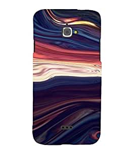 PrintVisa Colorful Wave Design 3D Hard Polycarbonate Designer Back Case Cover for Infocus M350