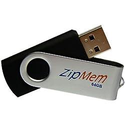 64GB Pendrive Zipmem Black Metal Cap