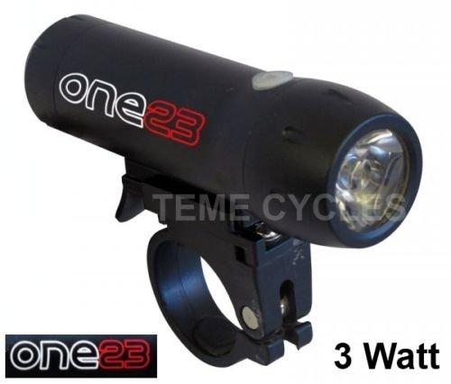 ONE23 Mega Bright 3 Watt Rechargeable Front Light