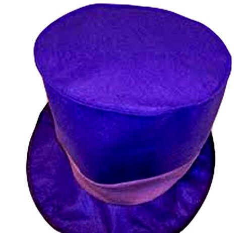 Charlie Chocolate Factory Hat Purple Felt Folded Halloween Lightweight