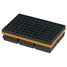 "Mason WMSW6X6 Neoprene/Steel Vibration Isolation Pad, Friction Pad on Top, 6"" Length x 6"" Width x 1-1/4"" Thick"