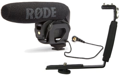 70 Hours of Continuous Recording: Rode VideoMic Pro – Compact Directional On-camera Shotgun Microphone with Free Polaroid Camcorder/DSLR Camera Bracket Features 2 Shoe Mounts with Molded Ergonomic Grip – Extra Long Battery Life