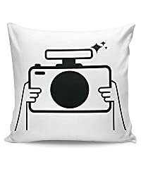 PosterGuy Photographer Camera, Minimal, Photographer, Photography, Photo, Capture, Illustration, Cartoon, Inspiration, Insp Cushion Cover