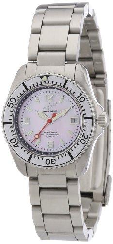 Chris Benz CBL.R.MB.SI - Reloj analógico de cuarzo para mujer, correa de acero inoxidable color plateado