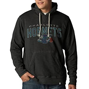 NBA New Orleans Hornets Slugger Pullover Hoodie Jacket, Charcoal by
