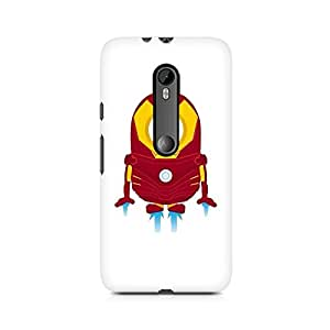 Motivatebox- Iron Man Minion Premium Printed Case For Moto X Style -Matte Polycarbonate 3D Hard case Mobile Cell Phone Protective BACK CASE COVER. Hard Shockproof Scratch-