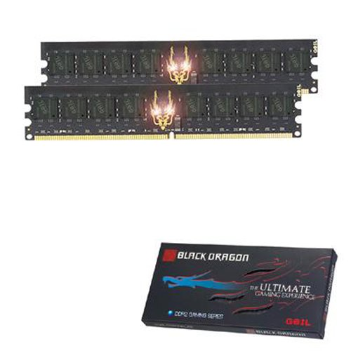 GEIL 2x2GB DDR2 800 CL5.0 D/C BLACK DRAGON