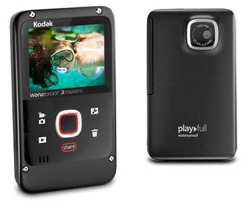 Kodak Playfull Waterproof Video Camera - Black (720p HD, 2x Digital Zoom) 2.0 inch LCD