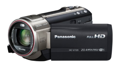 Panasonic HC-V720 3D Ready 1MOS HD Digital Camcorder with Wi-fi (black)