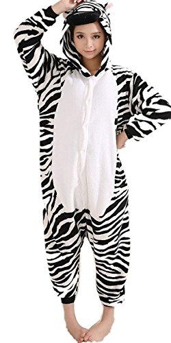 iNewbetter Sleepsuit Costume Cosplay Homewear Lounge Wear Kigurumi Onesie Pajamas (L (170-178cm), Zebra)