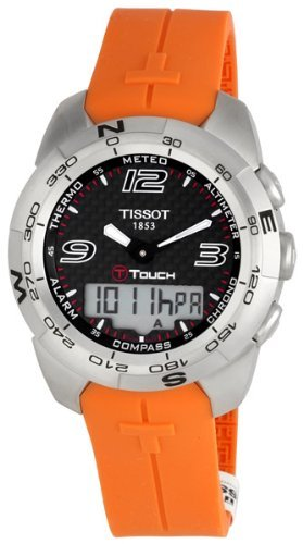 Tissot Men's T0134201720700 T-Touch Black Carbon Fiber Dial Watch