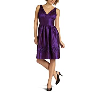 Amazon.com: Suzi Chin Women's V-Neck Dress: Clothing from amazon.com
