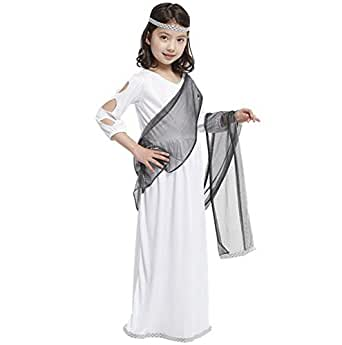 Luk Oil Halloween Theme Party Costume White Kid Roman Princess Cosplay