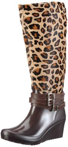 Nat-2 Anim Boots Womens Black Dunkelbraun (leopard) Size: 3.5 (36 EU)