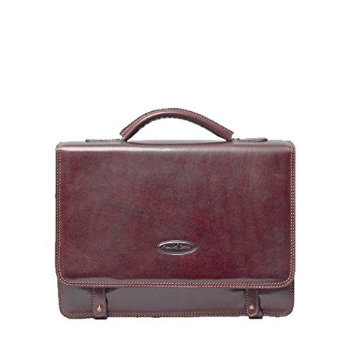 Maxwell scott bags herren luxus leder aktentasche battista