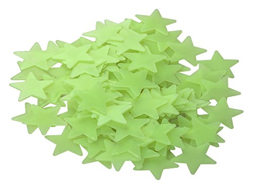 Dealglad 100PCS 3cm Green Home Wall Ceiling Glow In The Dark Stars Stickers Decal Baby Kids Bedroom Decor - 1