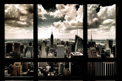 (24x36) New York City Window Art Print Poster