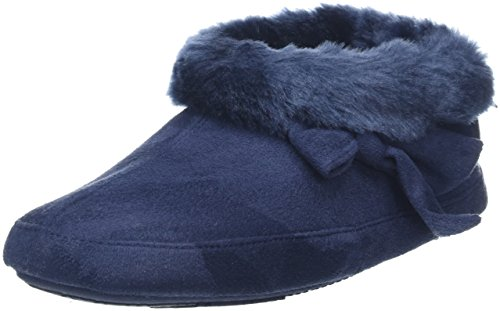 isotoner-women-suedette-bootie-with-fur-cuff-low-top-slippers-blue-navy-5-uk-38-eu