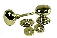 Eliza Tinsley Rim Door Knob Furniture with Escutcheon - Brass from Eliza Tinsley