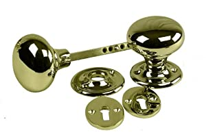 Eliza Tinsley Rim Door Knob Furniture with Escutcheon - Brass from Eliza Tinsley