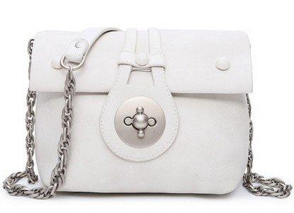 GQQ NUOVE borse a tracolla borse moda PU Dacron per Shopping Party e sul posto di lavoro fino a 3 L GQ borsa @ , white
