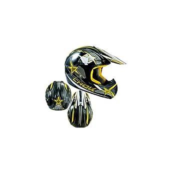 CASQUE CROSS CHOK STAR JAUNE VERNI T61-62 XL