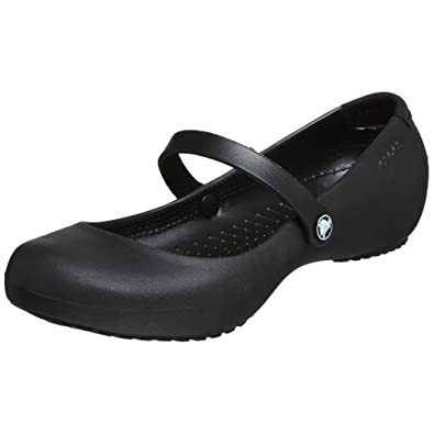 Crocs Women's Alice Mary Jane,Black,8 M