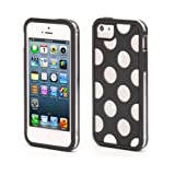 Griffin Separates Polka Dots Back Case for Apple iPhone 5 / 5S / SE / 5S - Black / Clear (GB38058)
