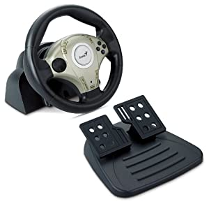 Genius TwinWheel F1 Vibration Feedback F1 Racing Wheel for PS2 and PC