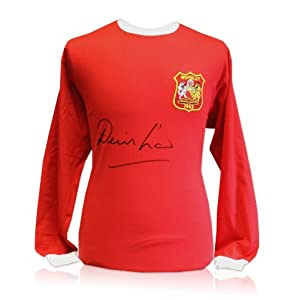 Law's '63 Shirt - Manchester United 1963 FA Cup final shirt signed by Denis Law