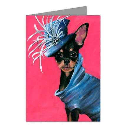 Chihuahua in John Galliano Dress Note Card