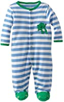 Little Me Baby-Boys Newborn Leap Frog Footie